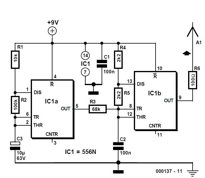 Wire Tracer (Transmitter) Schematic Circuit Diagram