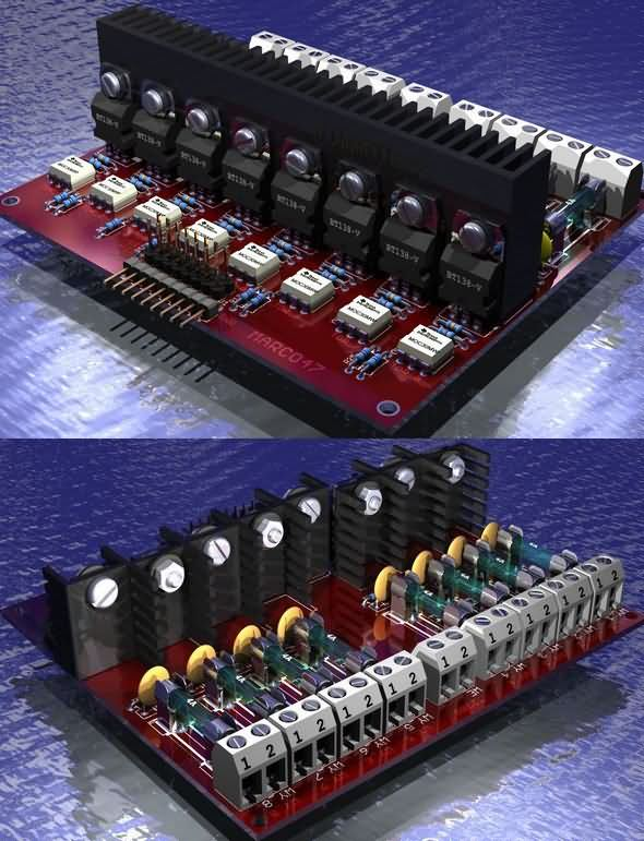 8 CHANNEL TRIAC AND OPTO ISOLATOR DRIVER CIRCUIT