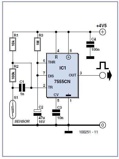 Cheap Bicycle Alarm Schematic Circuit Diagram