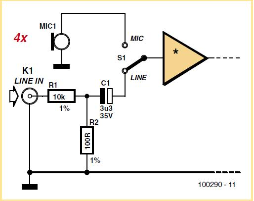 Line Input for Zoom H2 Schematic Circuit Diagram
