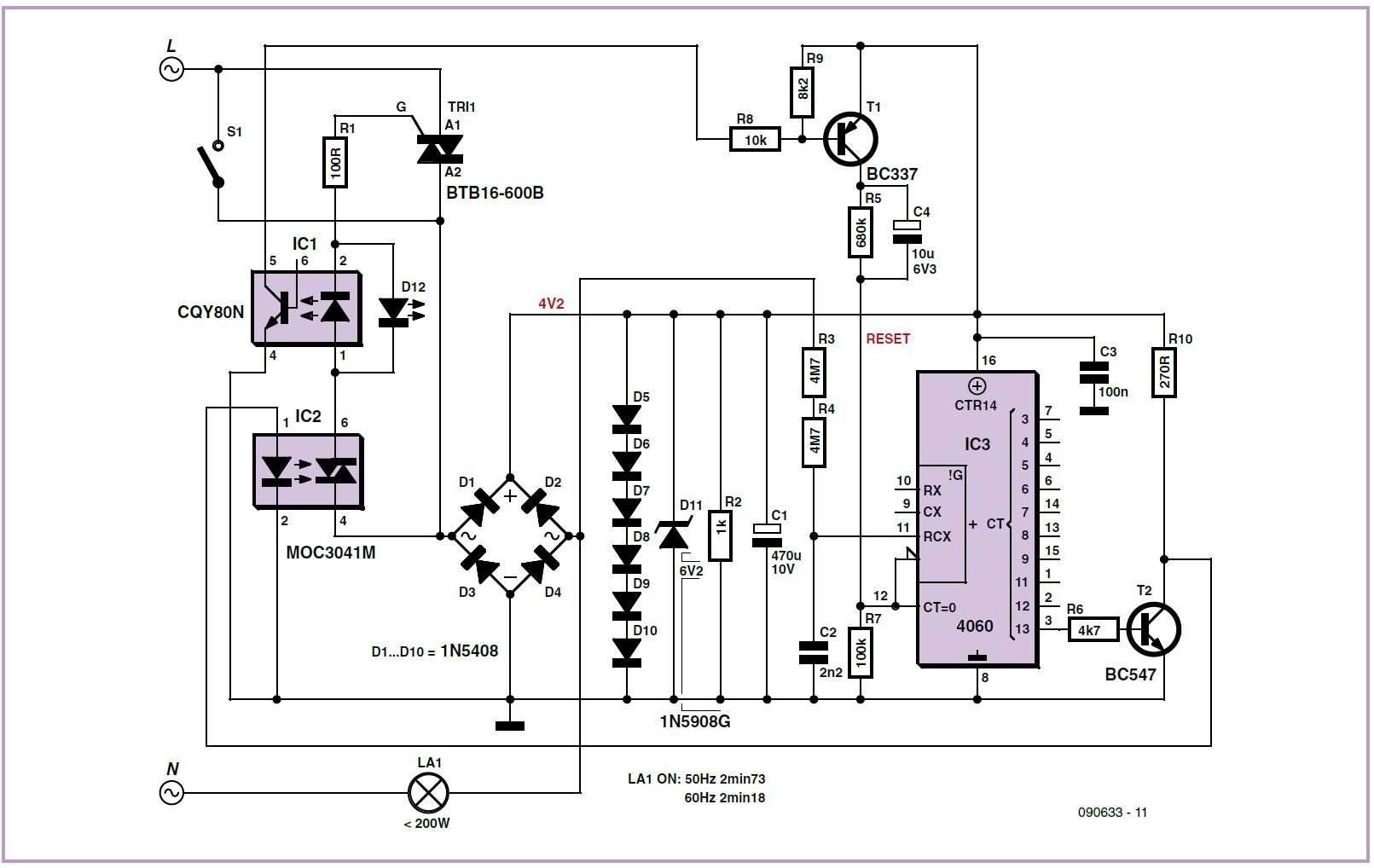 Outdoor Lighting Controller Schematic Circuit Diagram