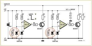 Petrol Diesel Level Sensor Schematic Circuit Diagram