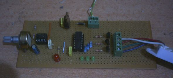 SIMPLE RGB LED LED EFFECT CIRCUIT Schematic Circuit Diagram