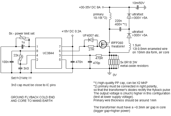 UC3844 SUPER FLYBACK DRIVER Schematic Circuit Diagram