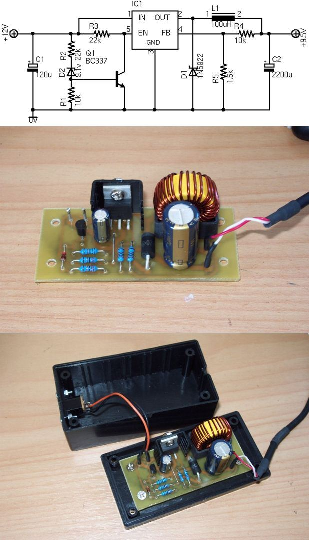 Photo of ASUS EEE PC SWITCHED AUTO CHARGER WITH LM2576 SCHEMATIC CIRCUIT DIAGRAM