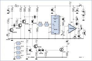 Bat Receiver Schematic Circuit Diagram