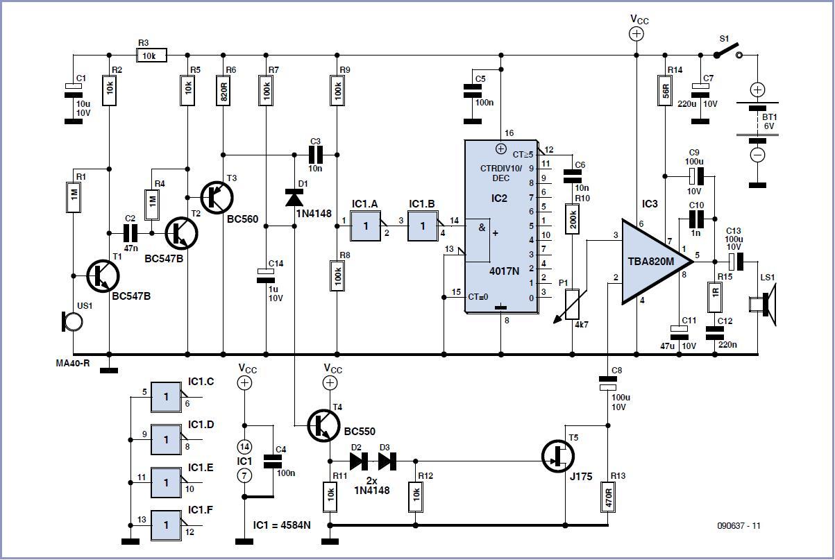 Bat Receiver Schematic Circuit Diagram Engineering