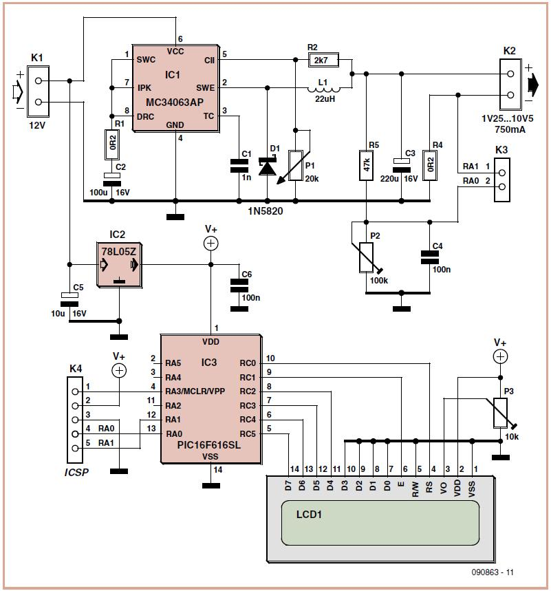 Virtual 9 V Battery Schematic Circuit Diagram