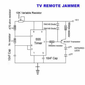 CONTROL BLOCKER REMOTE JAMMER SCHEMATIC CIRCUIT DIAGRAM