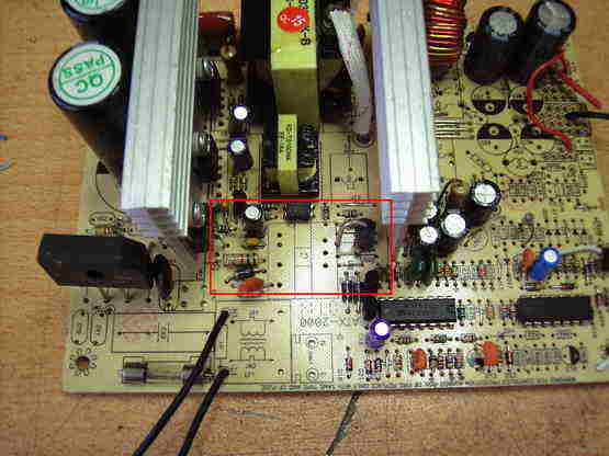 DC HIGH VOLTAGE WITH ATX STANTBY TRANSFORMER SCHEMATIC CIRCUIT DIAGRAM