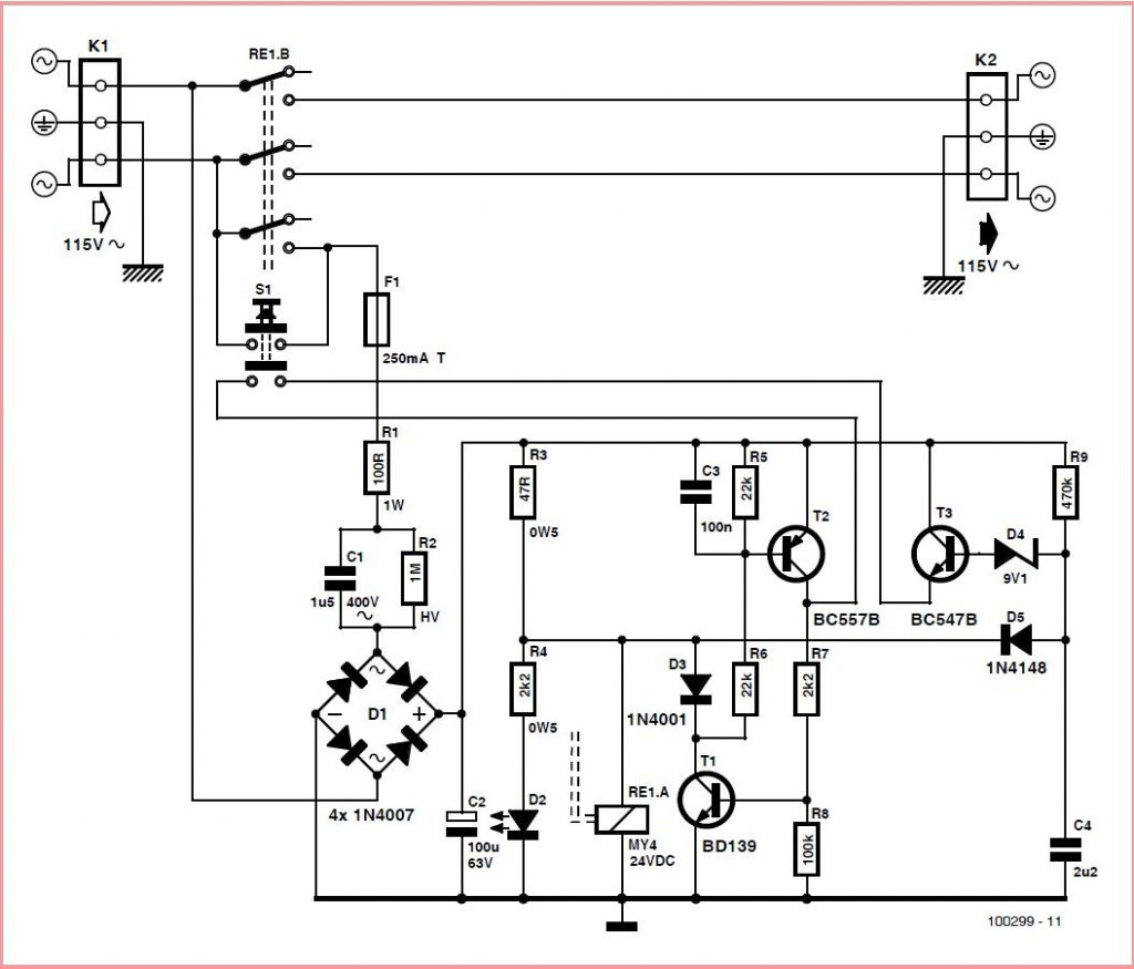 Economical On/Off Power Switch Schematic Circuit Diagram