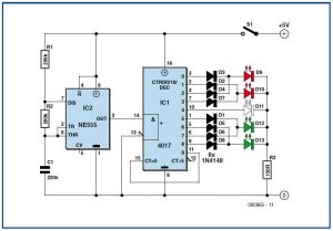 Flashing Lights for Planes and Helicopters Schematic Circuit Diagram