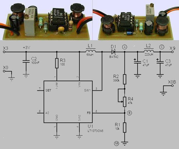 LT1073 3V TO 9V STEP-UP DCDC