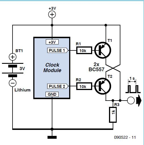 Quartz Clock Timebase Schematic Circuit Diagram