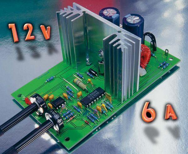 SG3524 3V-12V 1-5A-6A CURRENT VOLTAGE REGULATED CONVERTER SCHEMATIC CIRCUIT DIAGRAM