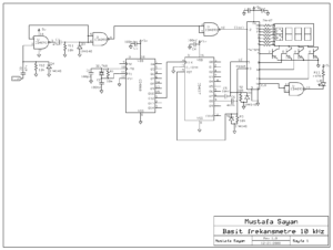 SIMPLE FREQUENCY METER 10KHZ  SCHEMATIC CIRCUIT DIAGRAM