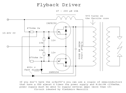 SIMPLE MOUSETRAP FLYBACK DRIVE CIRCUIT