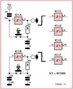 Six-way Switch Schematic Circuit Diagram
