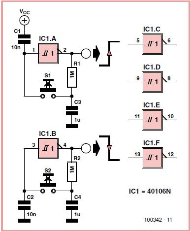 Six-way Switch Schematic Circuit Diagram