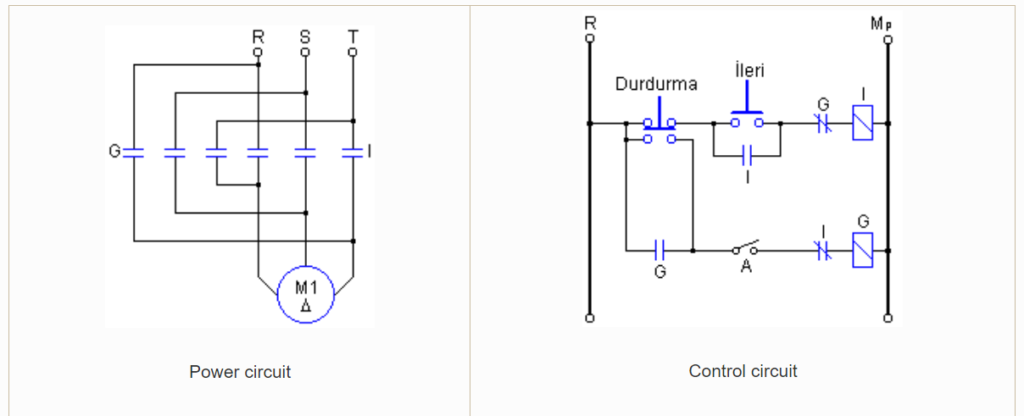 INSTANTANEOUS BRAKING OF DC MOTORS SCHEMATIC CIRCUIT DIAGRAM