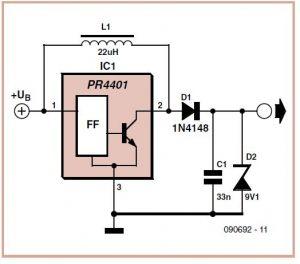 Virtual 9 V Battery Schematic Circuit Diagram 1