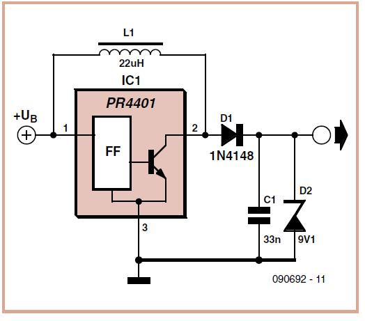 Virtual 9 V Battery Schematic Circuit Diagram 1