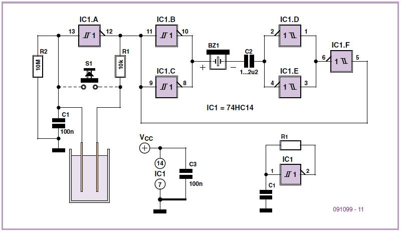 Water Alarm Schematic Circuit Diagram