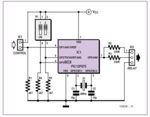 2-4-6-hour Timer Schematic Circuit Diagram