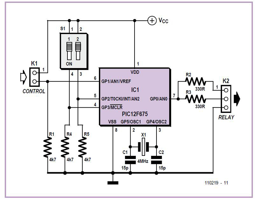 ATM18 and Three 1-Wire Thermometers Schematic Circuit Diagram