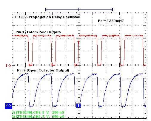555 Propagation Delay Oscillator Schematic Circuit Diagram 3