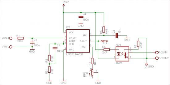 An Isolated Analog Input Module Schematic Circuit Diagram