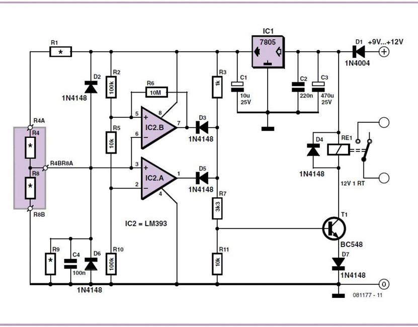 Analog Electronic Key Schematic Circuit Diagram
