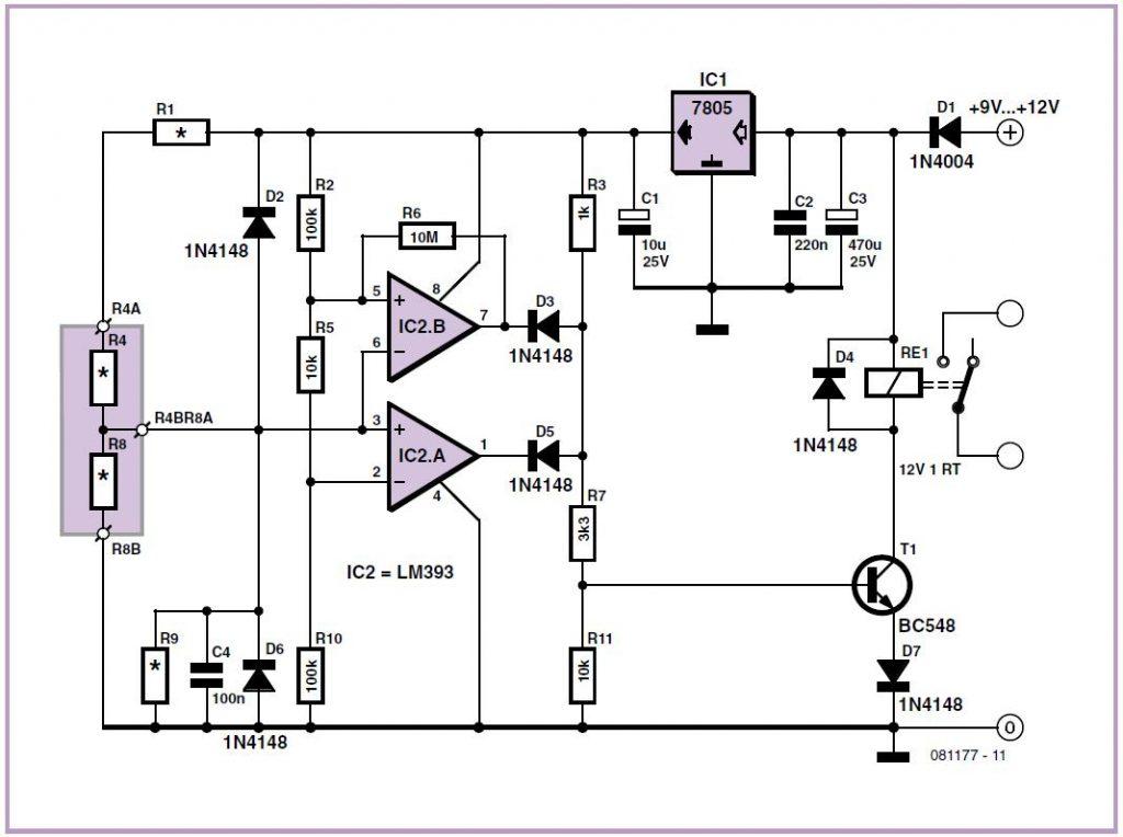 Analog Electronic Key Schematic Circuit Diagram