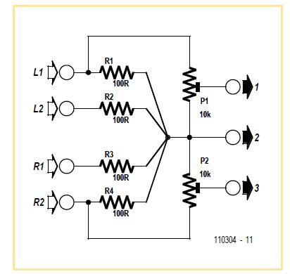 Audio Level Adapter Schematic Circuit Diagram
