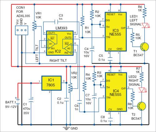 Automatic Bike Turning Indicator Schematic Circuit Diagram 3