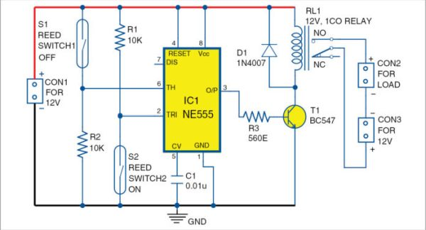 Automatic Water Refiller for Air-Coolers Schematic Circuit Diagram