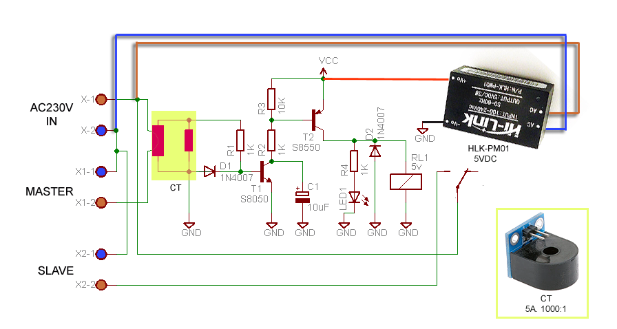 Building a Smart Master or Slave Switch Schematic Circuit Diagram 2