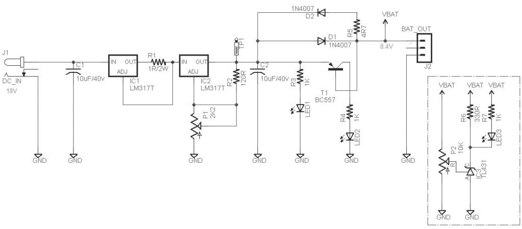 Compact 2S LiPo Battery Charger Schematic Circuit Diagram 2