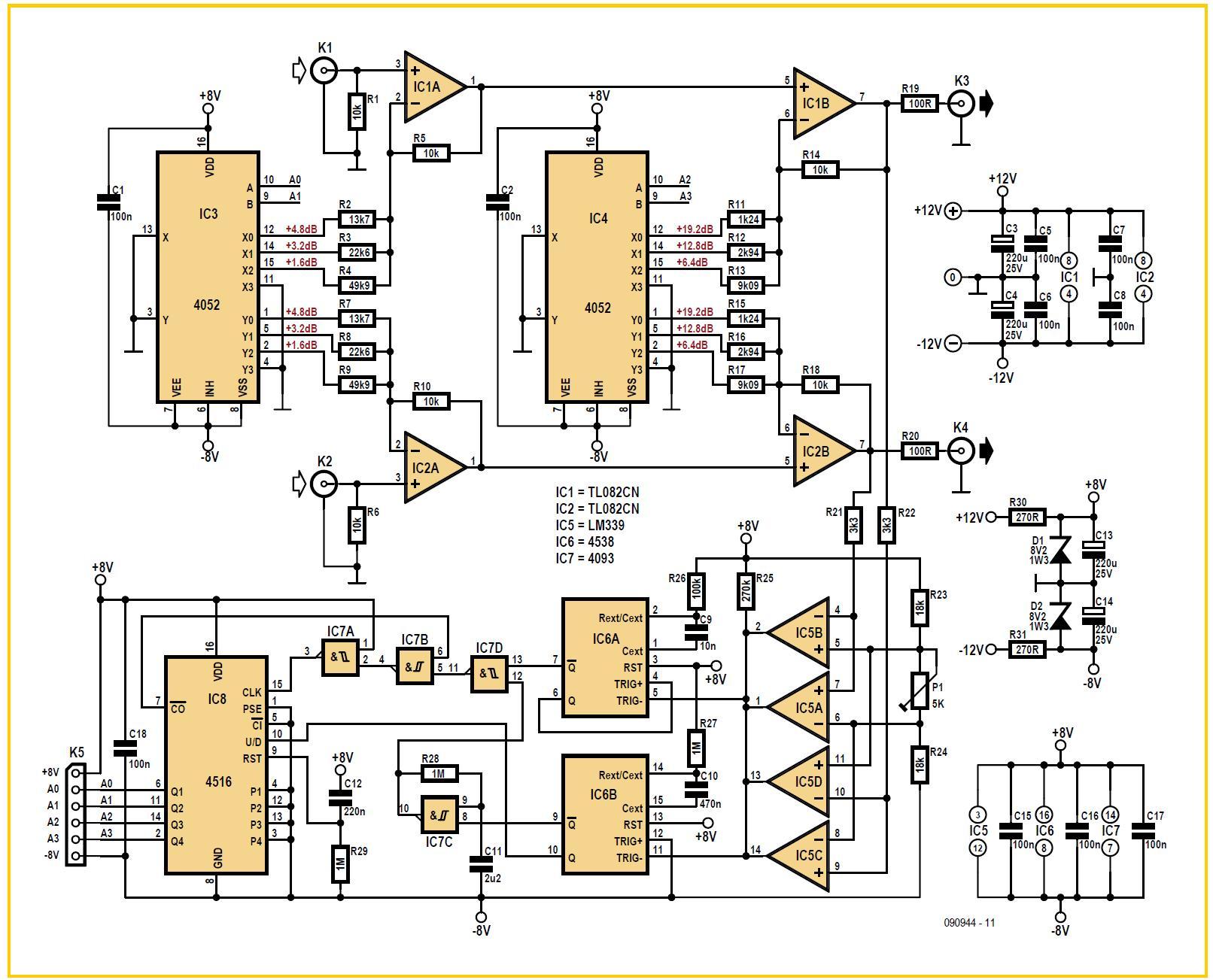 Dynamic Limiter Schematic Circuit Diagram Detector Audio Amplifier Circuits