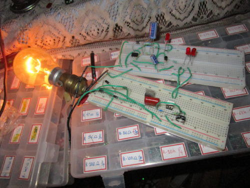 How to Construct a Gradual ON and OFF Bulb Schematic Circuit Diagram