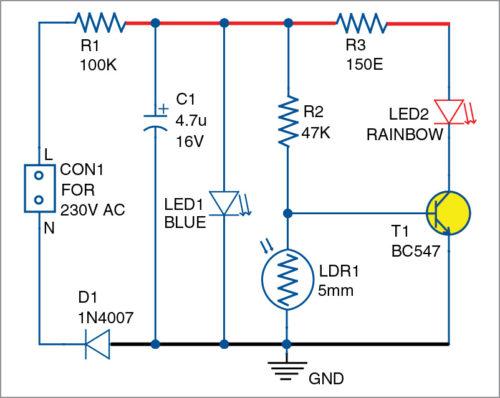 Little Nightlight Schematic Circuit Diagram 2