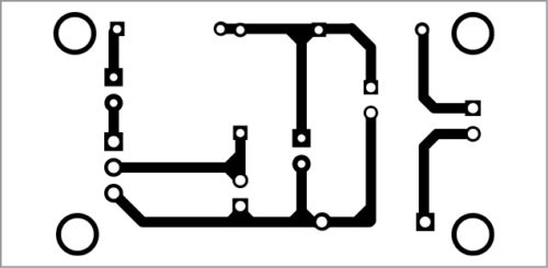 Construction and testing An actual-size PCB layout for the little nightlight is shown in Fig. 4 and its components layout in Fig. 5. After assembling the circuit, enclose it in a suitable box.