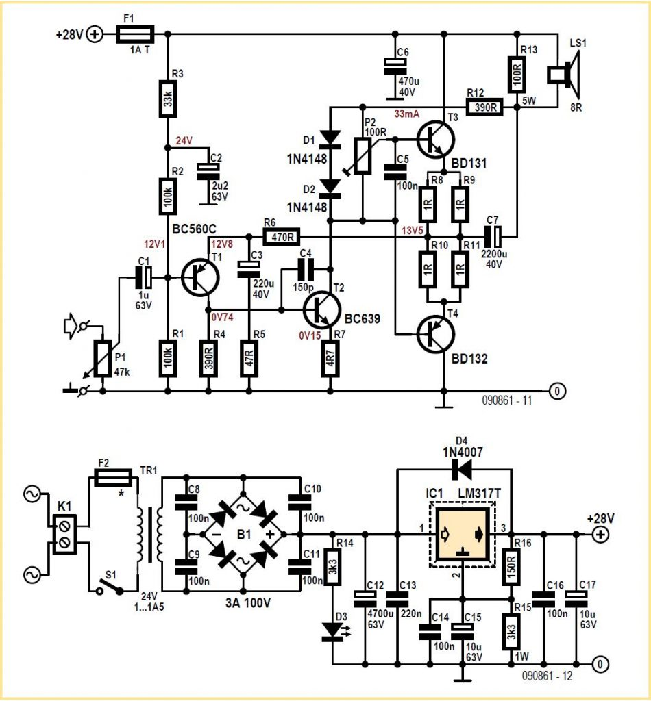 Amplifier Circuit Diagrams Archives Page 3 Of 6 Wireless Microphone Audiocircuit Mini Sixties Plus Schematic Diagram