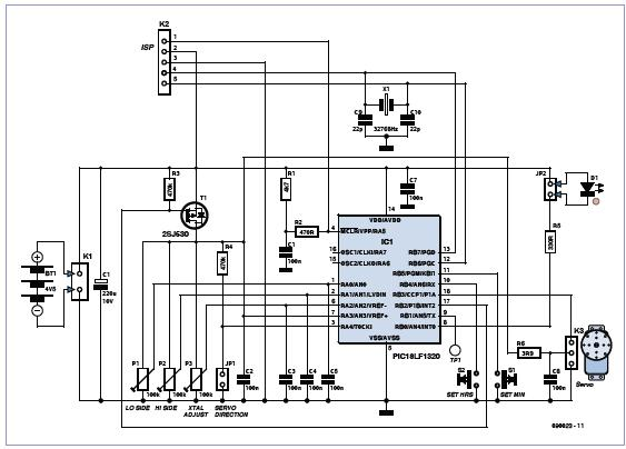 Modeler's Clock Schematic Circuit Diagram