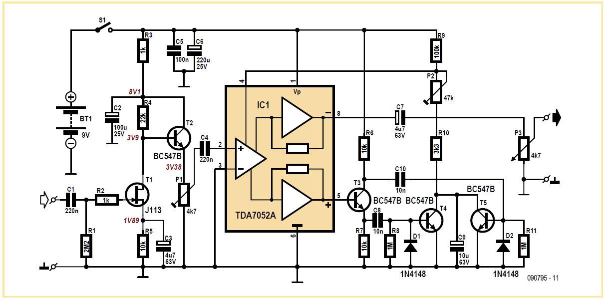 no ca3080 guitar compressor schematic circuit diagram. Black Bedroom Furniture Sets. Home Design Ideas