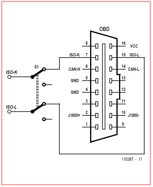 OBD Vehicle Protection Schematic Circuit Diagram