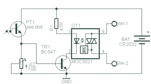 Optical Slave Flash Trigger Schematic Circuit Diagram