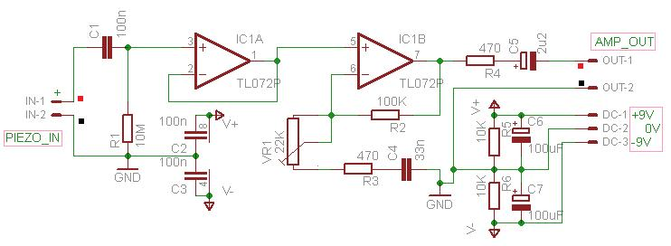 Simple Contact Microphone Schematic Circuit Diagram 2