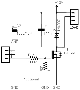 Simple DC Dimmer Circuit Schematic Circuit Diagram 5