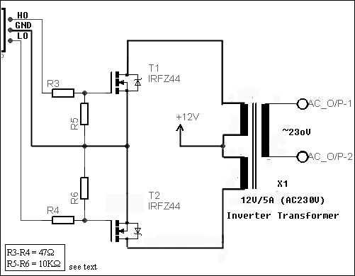 Simple Digital Signal Inverter Project Schematic Circuit Diagram 4